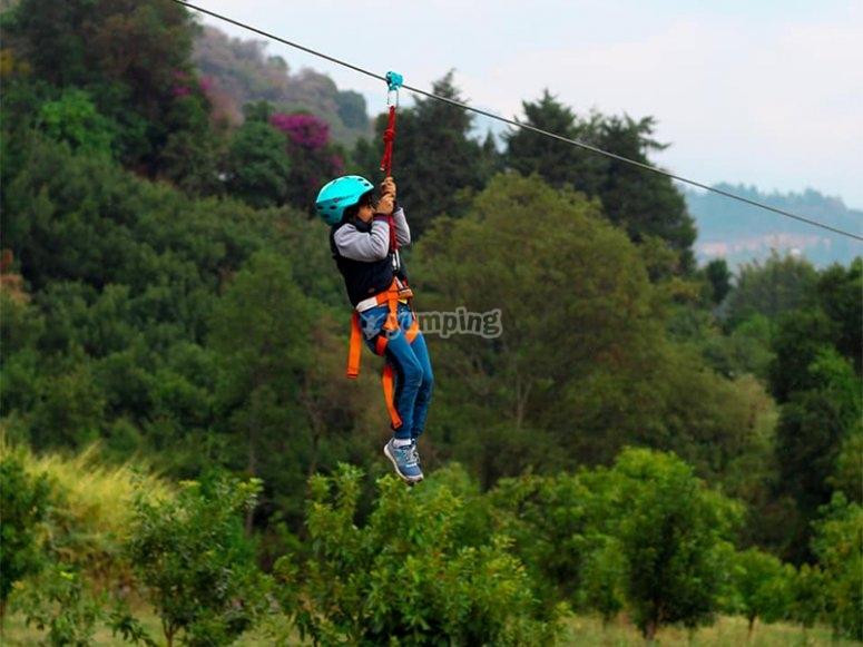 Jump off the 270 meter long Zipline