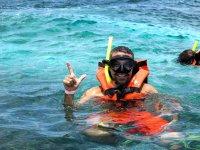 Swim with snorkel Cancun