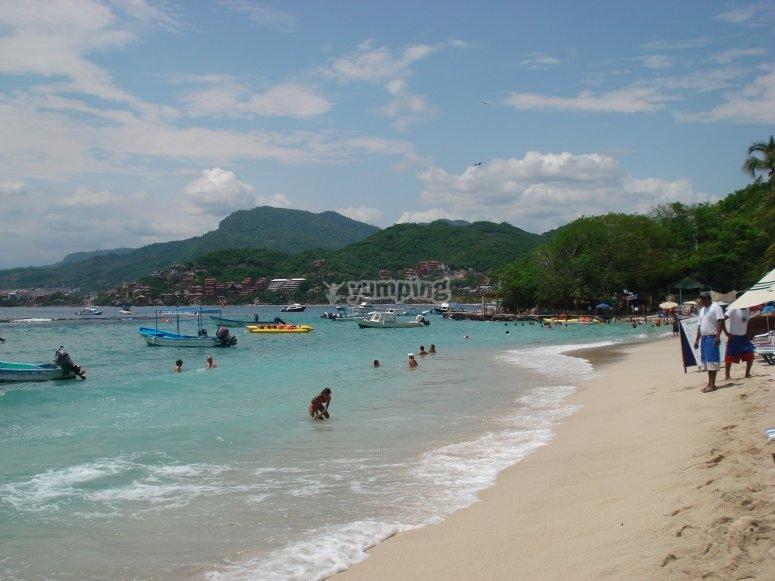 Playa las Gatas en Ixtapa Zihuatanejo