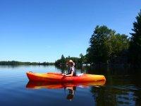Disfrutando el paseo en kayak