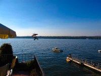 Ultralight flight over the lake