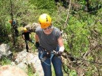 Practica Rappel en el bosque de Valle de Bravo