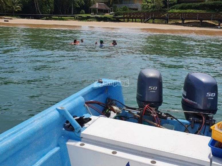 Snorkel y pesca