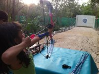 Shooting with bow