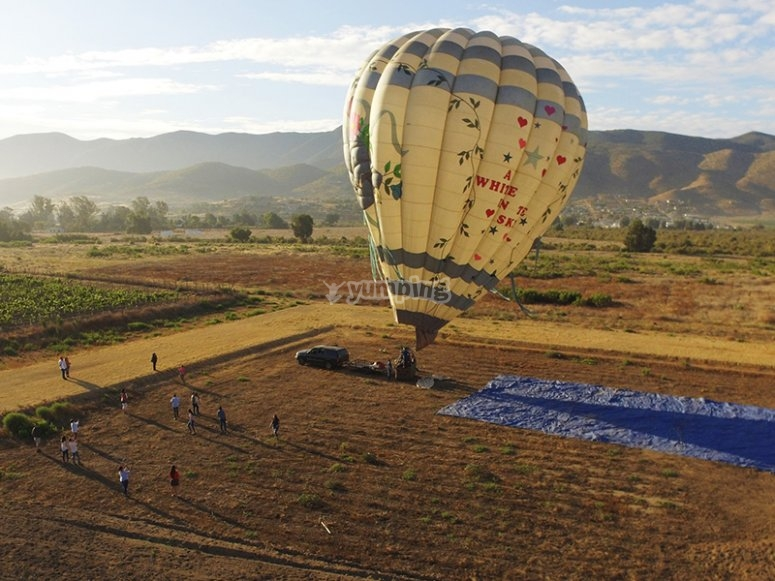 Take off from Valle de Guadalupe