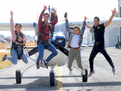 Parachute jump in Celaya Birthday promo