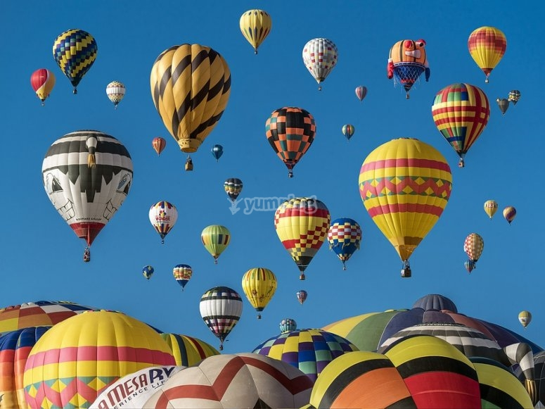 Admire the landscape of balloons