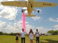Flight for gender reveal in Montemorelos