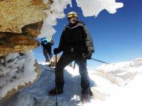 Climbing through ice