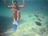 Nado con snorkel