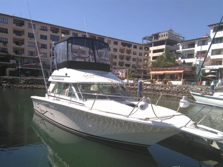 Departing from the marina of Vallarta