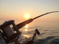 Perfect fishing moment