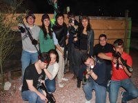 Playing with friends Laser Tag