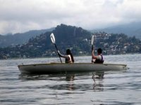 Kayaking in equipment