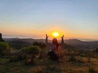 Observa el amanecer desde la montaña en San Luis Potosí