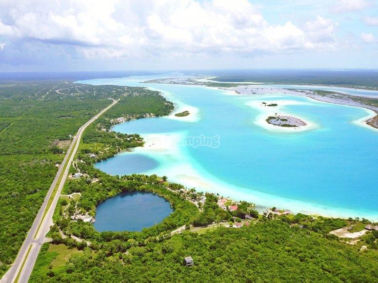 Visit part of Cenote Azul