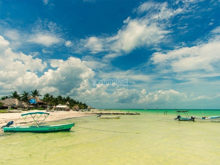 Enjoy the beaches of the Caribbean Sea