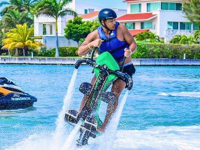 20 minute Jetovator ride in Cancun