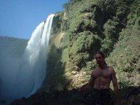 Waterfall rappelling