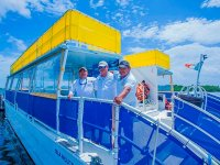 Catamaran party to Isla Mujeres with buffet 8.5h