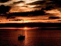 Nightfall on the boat