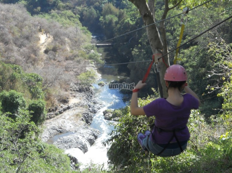 Maximum adrenaline with our zip line