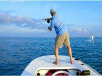 Pescando en el mar