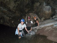 Enjoying the caves