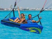Experiencia de parachute en Cancun