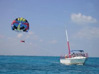 Parachute in the Mexican Caribbean