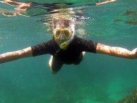 Haciendo snorkel en Boca del rio