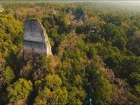 Vista aerea de selva maya