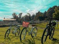 Go through the ranch on a bike ride