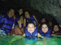 In the submerged caves