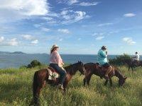 Horseback riding near the beach