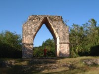 Look at the ancient arch