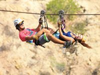 Launch yourself at full speed through the zip-line