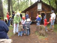 Children on the zip line