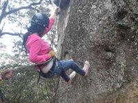 Rappel in the rock