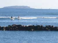 Intentando el surf