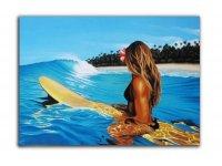 Pintura de surfista