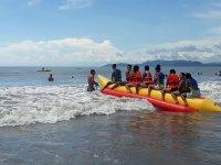 Adventure in a banana boat Ixtapa