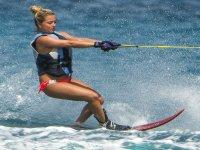 Water skiing in Linda beach Ixtapa