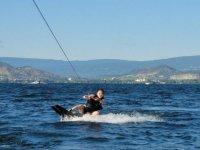 Practice water skiing in Playa Linda