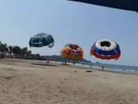Aerial activity in Playa Linda Ixtapa