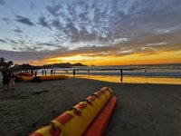 Sunset on banana boat Playa Linda