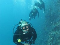 Diving at the bottom of the sea