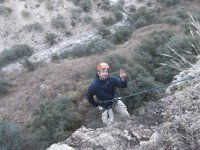 Going down in rappel