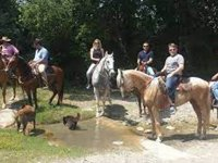 Pasea en caballo por la montaña de Santiago