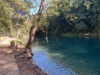 Zipline over river